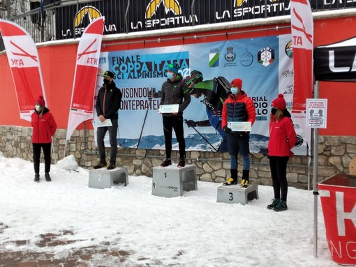 Gianmarco Gatti è secondo in Coppa Italia SkiAlp U23