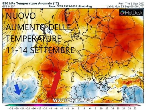 Ultimi giorni di estate settembrina poi dal giorno 14 crollo delle temperature
