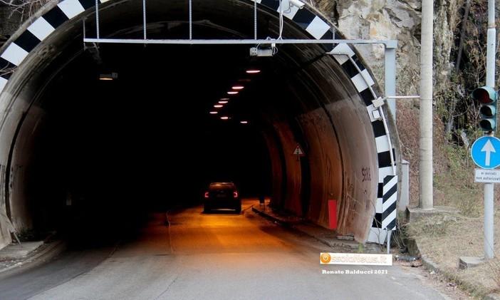 Manutenzione nelle gallerie della statale 549
