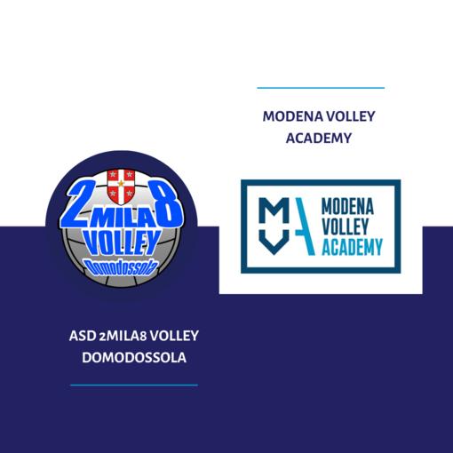 2mila8volley Domodossola aderisce alla Modena Volley Academy