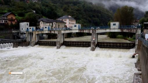 Il torrente Anza a Piedimulera, martedì mattina