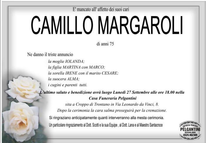 Camillo Margaroli di anni 75