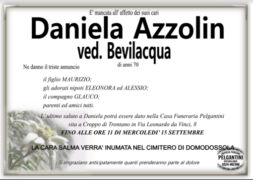 Daniela Azzolin ved. Bevilacqua di anni 70
