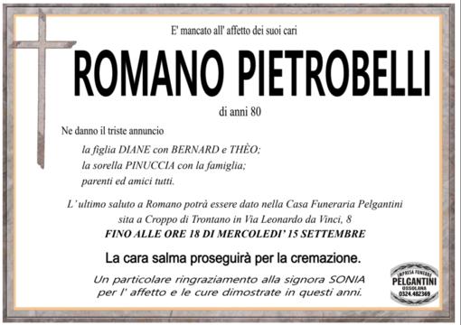 Romano Pietrobelli di anni 80