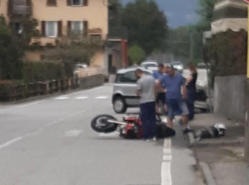 Beura, scontro tra una moto e un'utilitaria