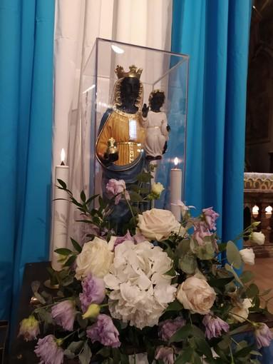 La Madonna Nera di Oropa è esposta alla Collegiata di Domo
