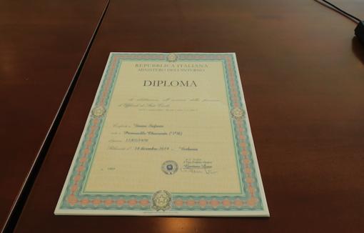 Ufficiali di Stato Civile ed Anagrafe: consegnati in Prefettura i diplomi Anusca