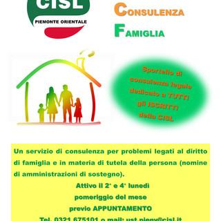 La Cisl apre il nuovo sportello di consulenza legale per la tutela della famiglia e della persona