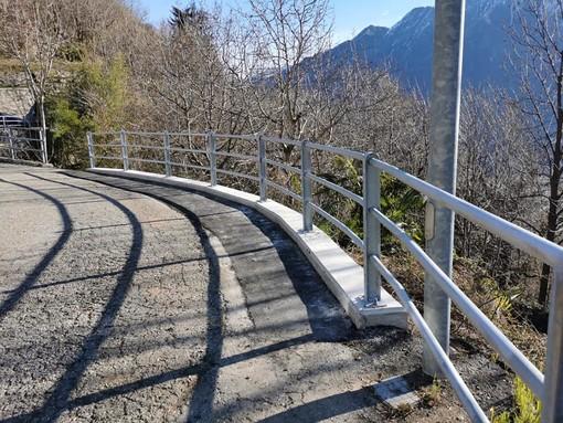 Cimamulera, riparata e allargata la strada in località Pairazzo