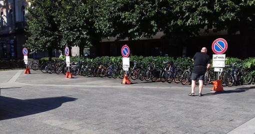 Domo, spostato il parcheggio delle biciclette di piazza Matteotti