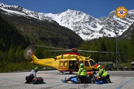 Scialpinista 32enne precipita scendendo dalla Nordend