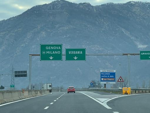A26, chiusure notturne tra Gravellona e Arona dall'1 al 5 marzo