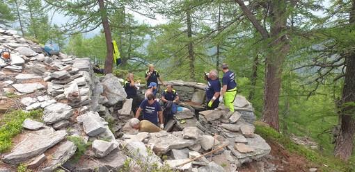 I volontari dell'Ana hanno restaurato le postazioni militari all'Alpe Paione